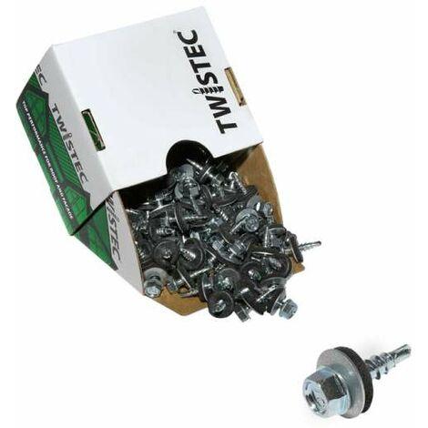 Twistec® 4,8X20 verzinkt blank, für 451M8P 100St./Pck 292BVZ48X20 Trapezblechschrauben