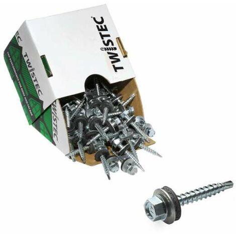Twistec® 4,8X35 verzinkt blank, für 451M8P 100St./Pck 292BVZ48X35 Trapezblechschrauben