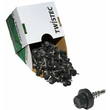 Twistec® Colorhead 4,8X20 anthrazit, für 451M8P 100St./Pck 292PVZ48X207016 Trapezblechschrauben
