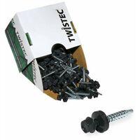 Twistec® Colorhead 4,8X35 anthrazit, für 451M8P 100St./Pck 292PVZ48X357016 Trapezblechschrauben