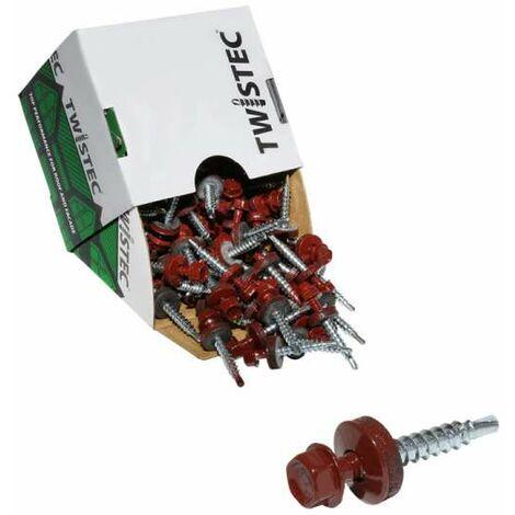 Twistec® Colorhead 4,8X35 rotbraun, für 451M8P 100St./Pck 292PVZ48X358012 Trapezblechschrauben