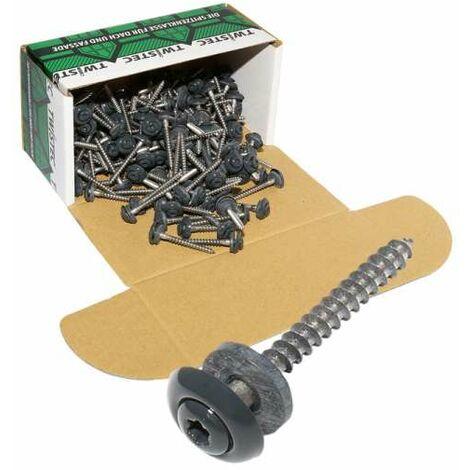 Twistec® Spenglerschraube 3tlg Color TX20 Edelstahl A2 4,5x55mm anthrazit VPE 200 Stück