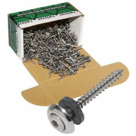 Twistec® Spenglerschraube 3tlg TX20 Edelstahl A2 4,5x35mm VPE 200 Stück