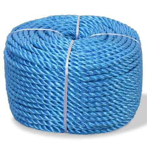 Twisted Rope Polypropylene 8 mm 200 m Blue