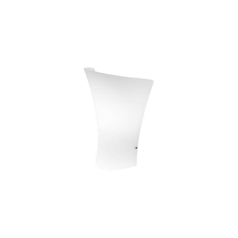 Homemania - Twister Wandleuchte - Applique - Weiss aus Metall, Glas, 24 x 11 x 32 cm, 1 x E27, Max 70W, 220-240V