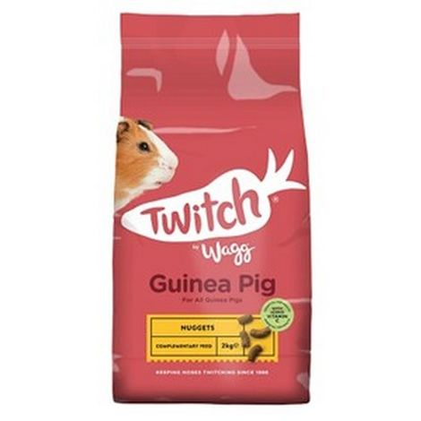 Twitch By Wagg Guinea Pig Nuggets (4 Packs) (4 x 2kg) (May Vary)