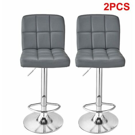Two Cube Bar Stools - White