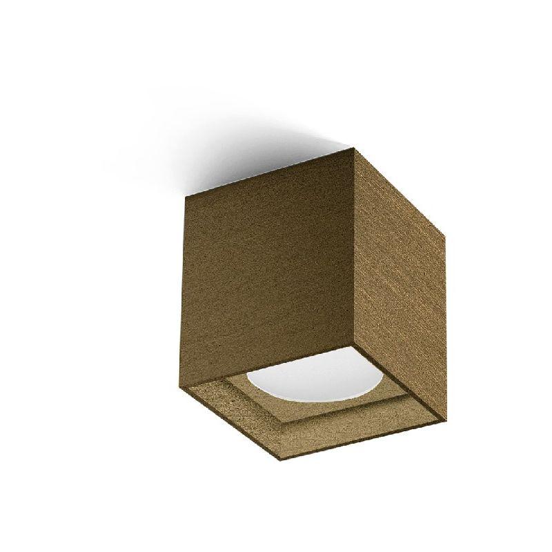 Homemania - Two Deckenlampe - Deckenleuchte - Quadratisch - von Wand zu Wand -Bronze aus Aluminium, 8 x 8 x 8,7 cm, 1 x LED, 10W, 595lm, 3000K,