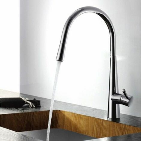 Two handle retractable wall mounted faucet with two swivel joints