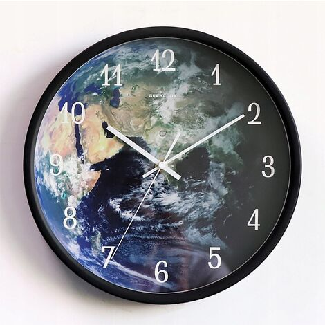 """main image of """"Two-in-One Wallory Wall Clock Hall Decoration Chamber Voice Control Sensor LED Black Wall Clock Night"""""""