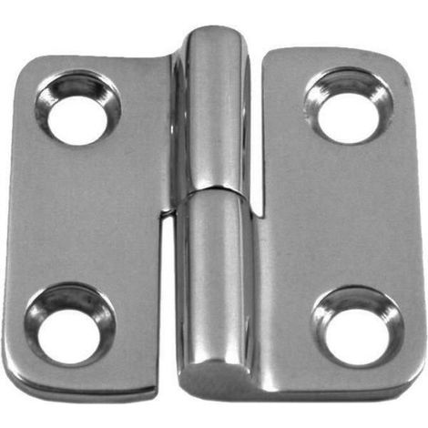Two-part hinge right or left Stainless steel A4