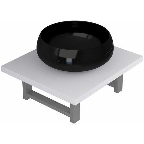 Two Piece Bathroom Furniture Set Ceramic White