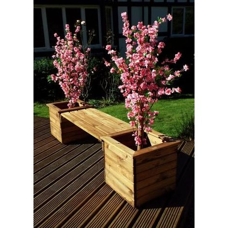 Two Seaterr Planter Bench HB51