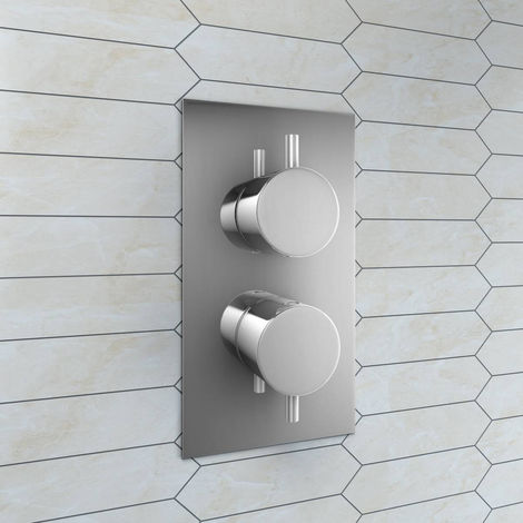Two Valve 1 Way Concealed Valve Inc Plate - Round