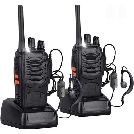 """main image of """"Two-way radio walkie talkie 16 channels Rechargeable PMR 446 long range walkie talkie with original 2 pieces for headphones Supports VOX LED light voice"""""""