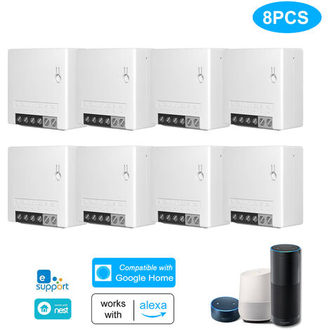 Two Way Smart Switch Small Body Remote Control WiFi Switch 8Pcs