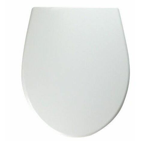 Twyford Alcona White Oval Soft Close Toilet Seat Top Fix Hinges WC Bathroom