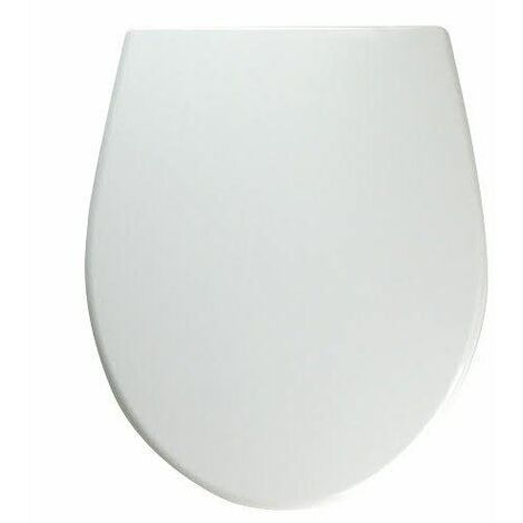 Twyford Alcona White Oval Toilet Seat Bottom Fix Plastic Hinges WC