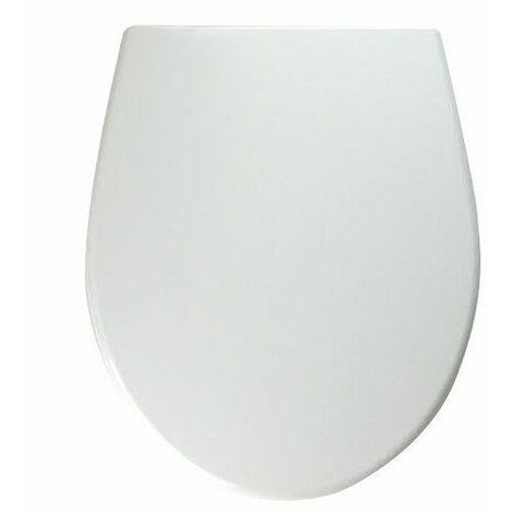 Twyford Alcona White Oval Toilet Seat Bottom Fix Stainless Steel Hinges WC