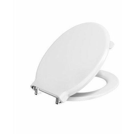 Twyford Avalon/Sola White Oval Toilet Seat Top Fix Cover Bar Hinge WC Bathroom