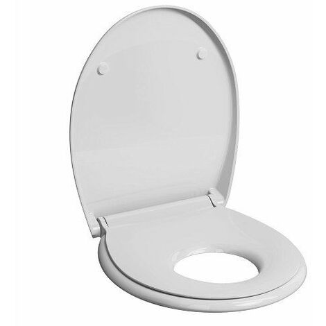 Twyford E100 White Soft Close Family Toilet Seat Quick Release Hinges WC