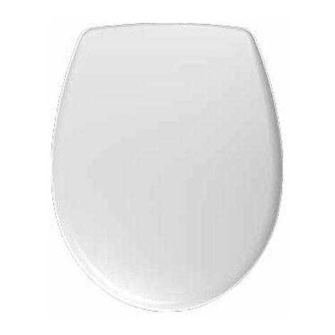 Twyford Galerie Plan Oval White Acrylic Toilet Seat Bottom Fix Hinges WC
