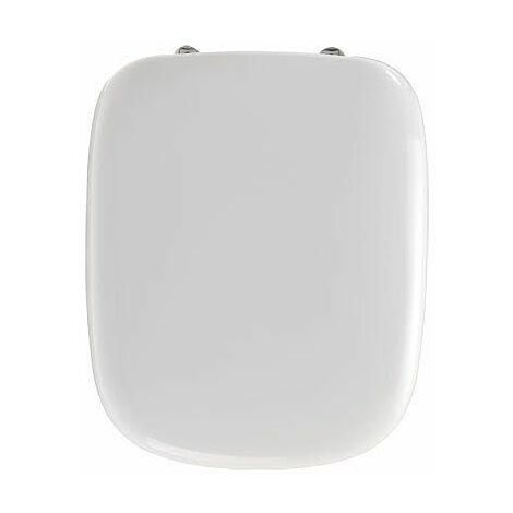 Twyford Moda D Shaped White Acrylic Toilet Seat Soft Close Top Fix Hinges WC