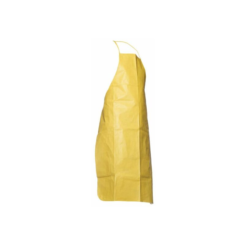 Image of Tyc PA30S YL 00 Tychem/C Shin Length Apron Yellow - Dupont Tychem