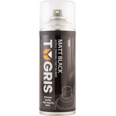 Tygris P300 VariSpray Matt Black Acrylic Aerosol Paint 400ml