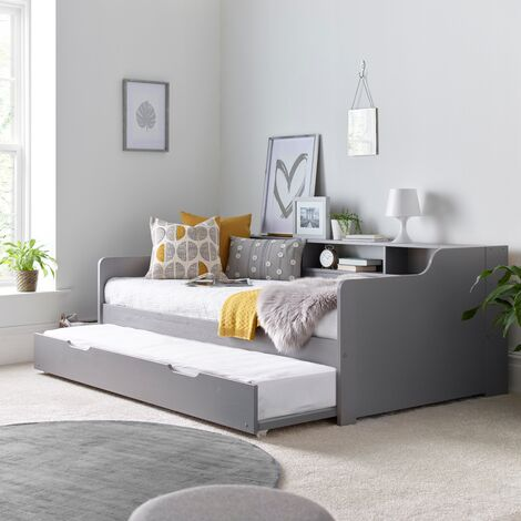 Tyler Guest Bed And Trundle Grey