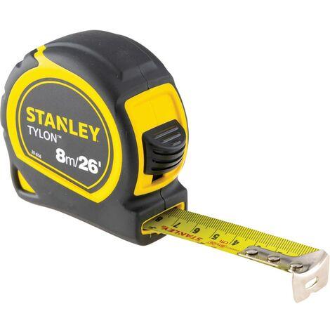 12 x Stanley Pocket Tape Measure Tylon Metre 25mm Blade 8M//26Ft 1-30-656 Loose