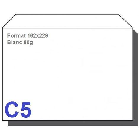 Type C5 - Format 162X229 Blanc 80g
