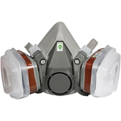 Type de filtre demi-masque toxique, masque anti-poussiere, masque de fumee de peinture en aerosol de gaz chimique