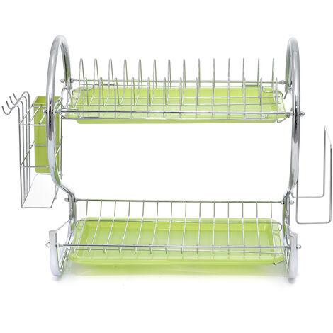 TYPEA 2-tier green dish drainer