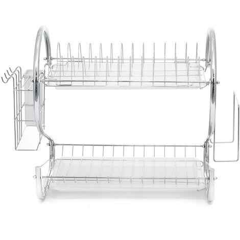 TYPEA 2-tier white dish rack