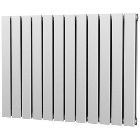 Typhon Double Panel Designer Horizontal Radiator White - choose size