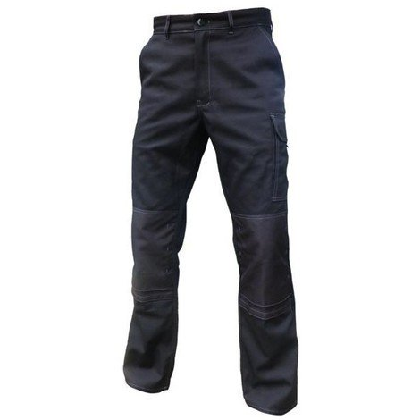 TYPHON Pantalon de travail Blanc/Gris poche genouillères Vpb