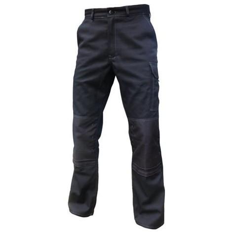 TYPHON Pantalon de travail noir avec poches genoux Vpb