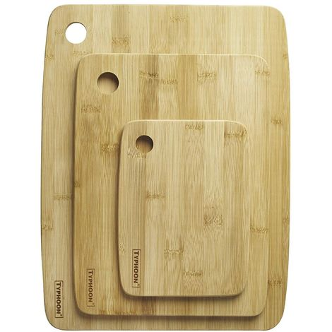 Typhoon Essentials Wood Chopping Boards - Set of 3