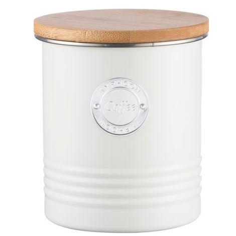 Typhoon Living Tea Coffee Sugar, Bread Bin, Kettle, Scales, Storage Tins - Cream