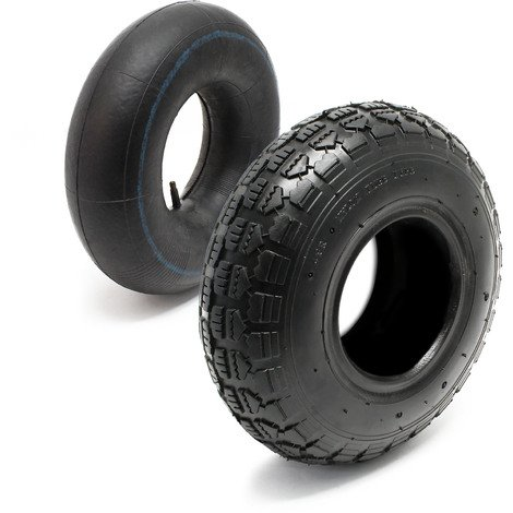 Tyre for lawn mower 11x4.00-4 4pr with innner tube and straight valve stem garden tractor
