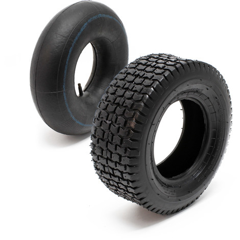 Tyre for lawn mower 15x6.00-6 4pr with innner tube and straight valve stem garden tractor