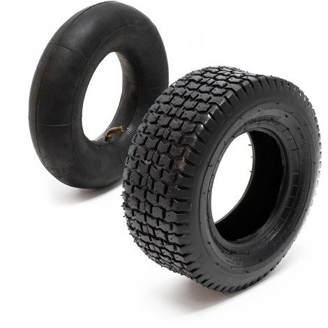 Tyre for lawn mower 16x6.50-8 4pr with innner tube and curved valve stem garden tractor