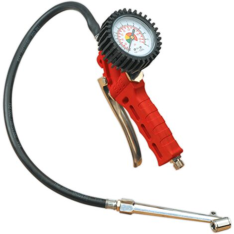 Tyre Inflator with Twin Push-On Connector