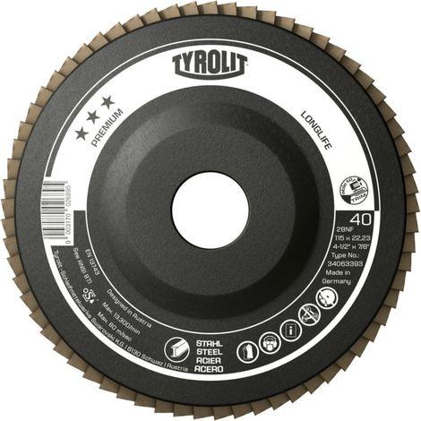 10x Tyrolit Flap disc 34063398 150X22,23 ZA40-B