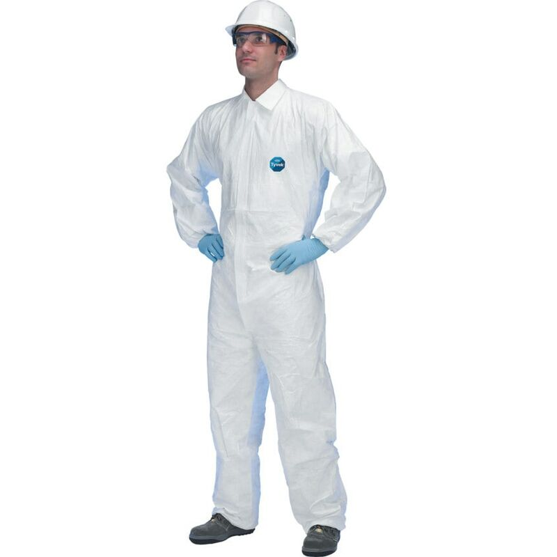 Image of Dupont Tyvek Tyvek Industry Coverall with Collar - Large