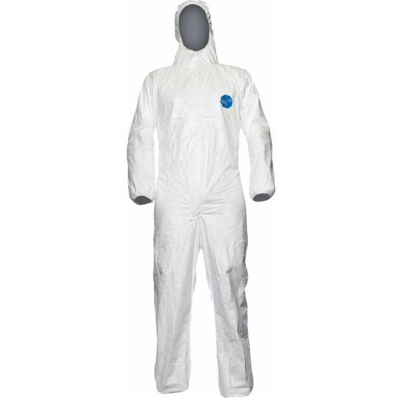 Image of Tyvek Classic Expert Hooded Coverall White - Med - Dupont Tyvek