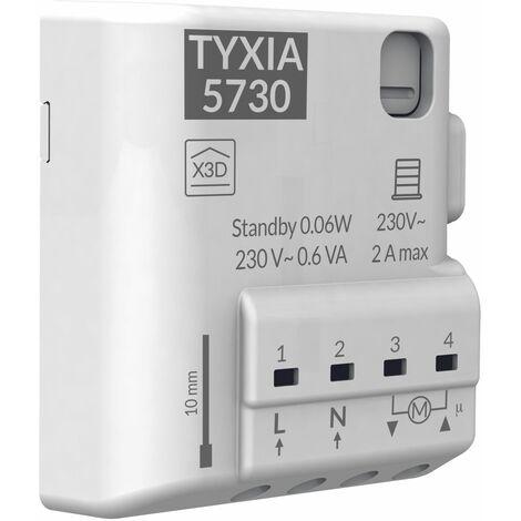 Tyxia 5730 Récepteur nanomodule radio pour volets roulants - blanc
