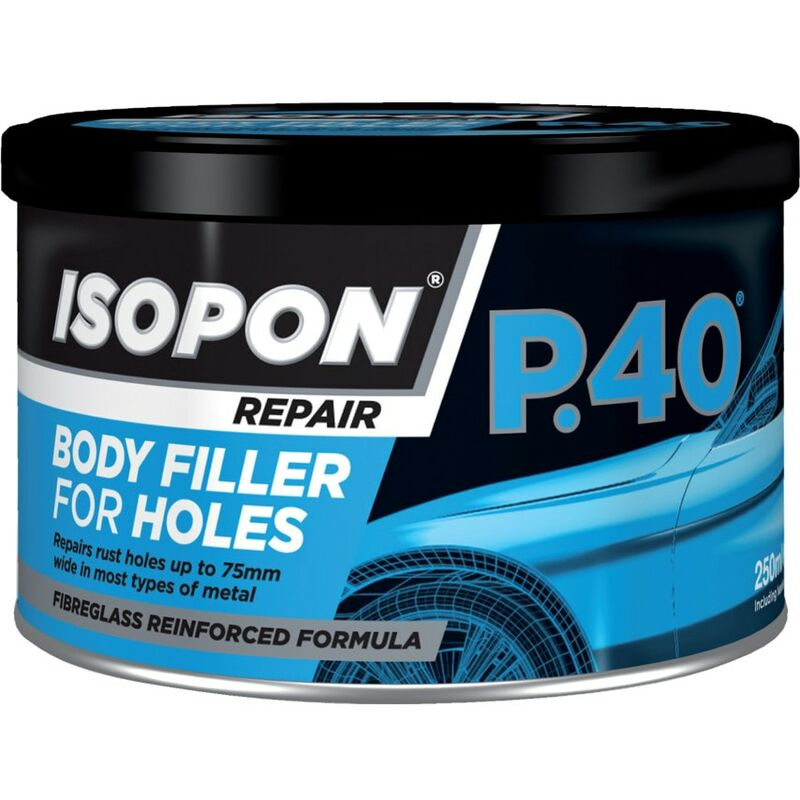 Image of P40/S Glass Fibre Repair Paste Yellow Tin 250ML - Isopon