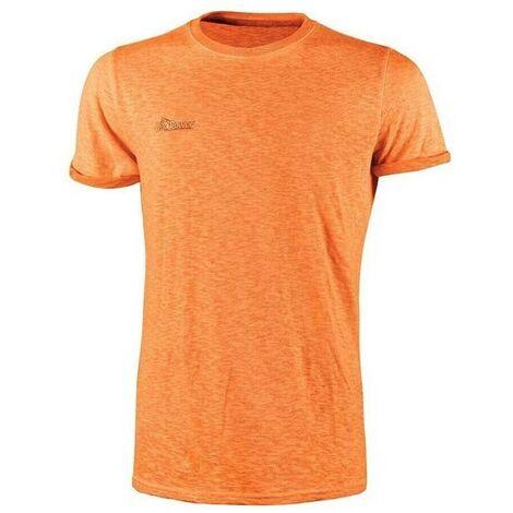U-POWER EY195OF-L - Camiseta manga corta gama ENJOY modelo FLUO Orange Fluo Talla L (Paquete de 3 ud)